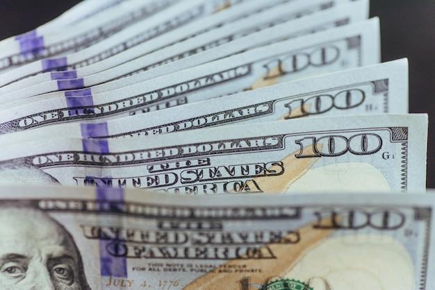 Dólares americanos. notas de cem dólares, cem dólares
