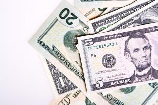 Dólares, closeup, dólares