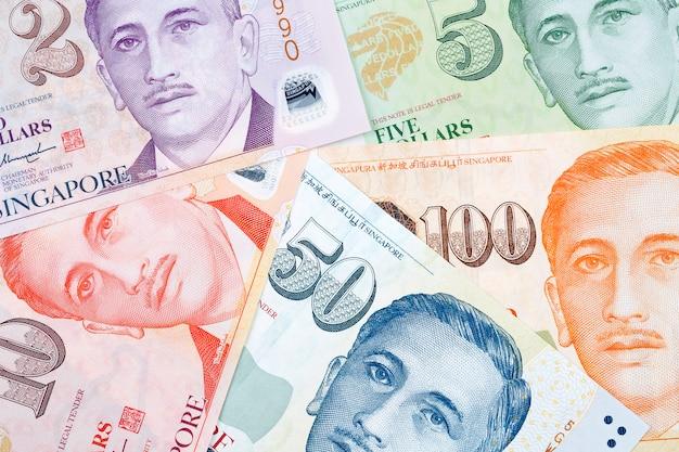 Dólares de cingapura, um fundo de negócios