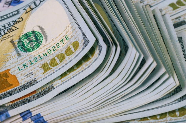 Dólares enrolados closeup