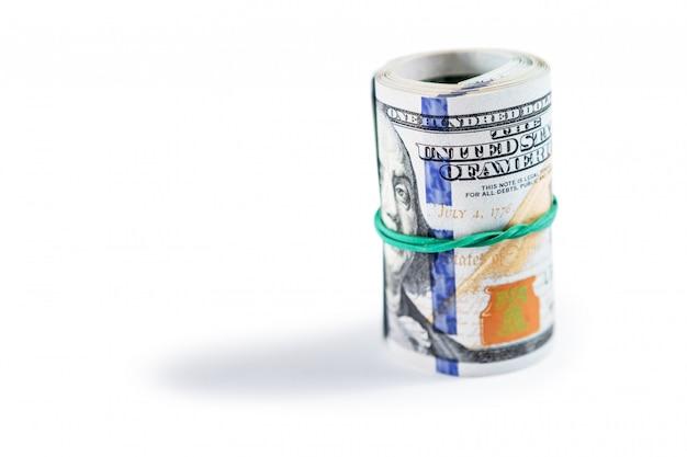 Dólares isolados no fundo branco