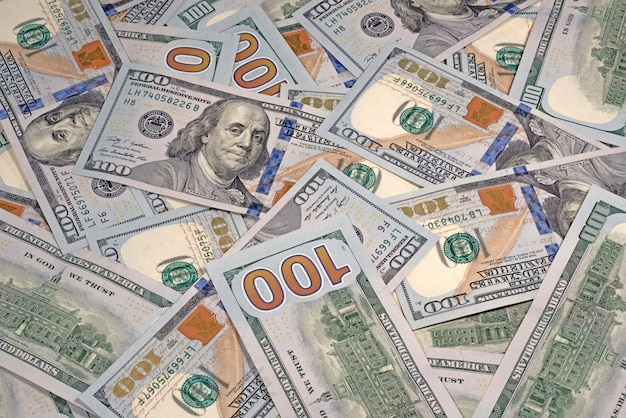 Dólares na área de trabalho