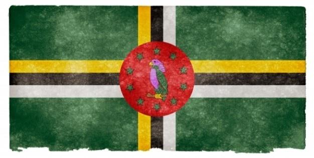 Dominica grunge bandeira