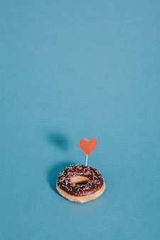 Donut com um coração