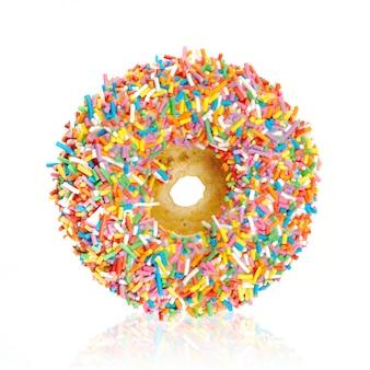 Donut isolado no branco