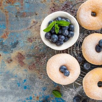 Donuts caseiros com açúcar