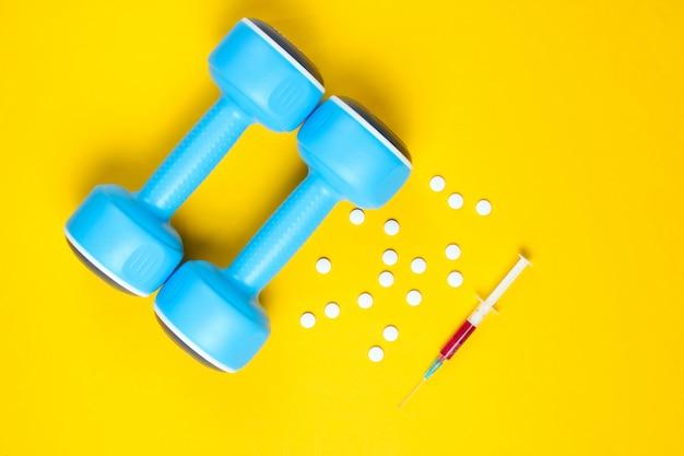 Doping no esporte.