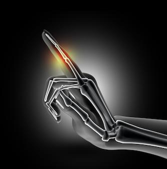 Dor na articulação do dedo do pé