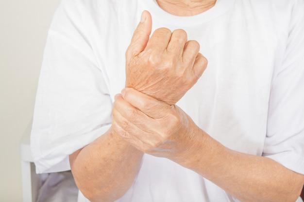 Dor no punho em mulheres idosas.