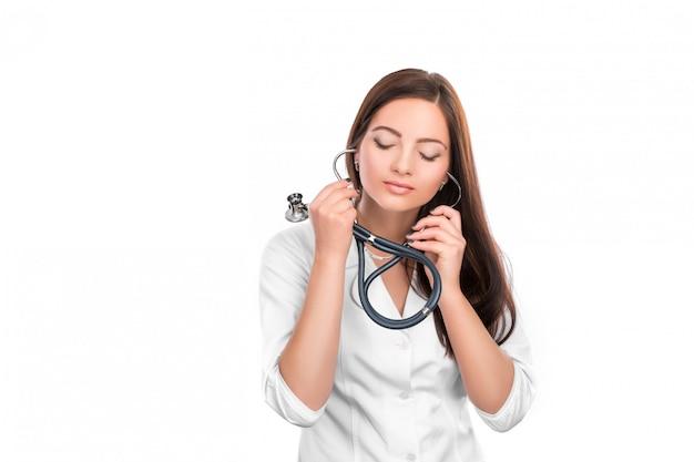 Doutor mulher com estetoscópio