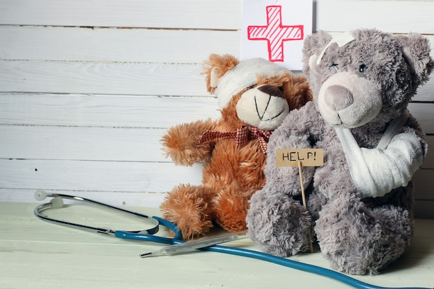 Doutor ursinho de brinquedo