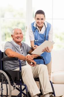 Doutor, verificar, saúde pacientes, casa
