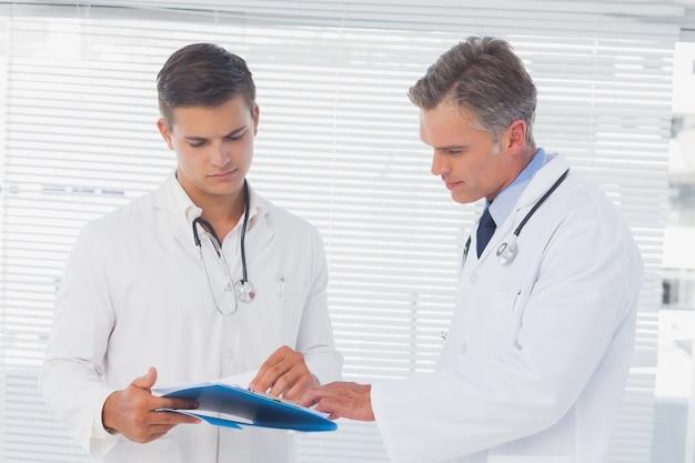 Doutores, leitura, pasta