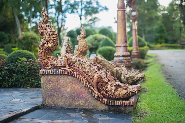 Dragão estátua no parque