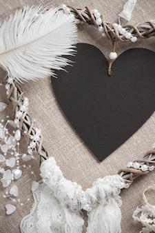 Dreamcatcher em forma de coração