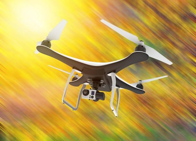 Drone com câmera digital voando