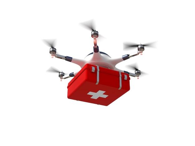 Drone cruz vermelha