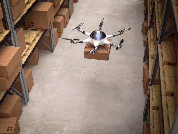 Drone em armazém