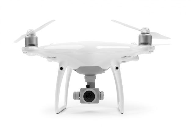 Drone isolado em um branco