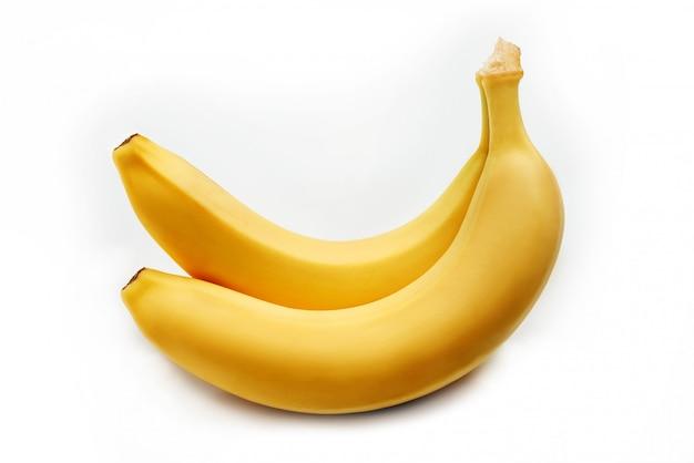 Duas bananas amarelas brilhantes