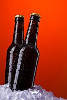 Duas garrafas de cerveja