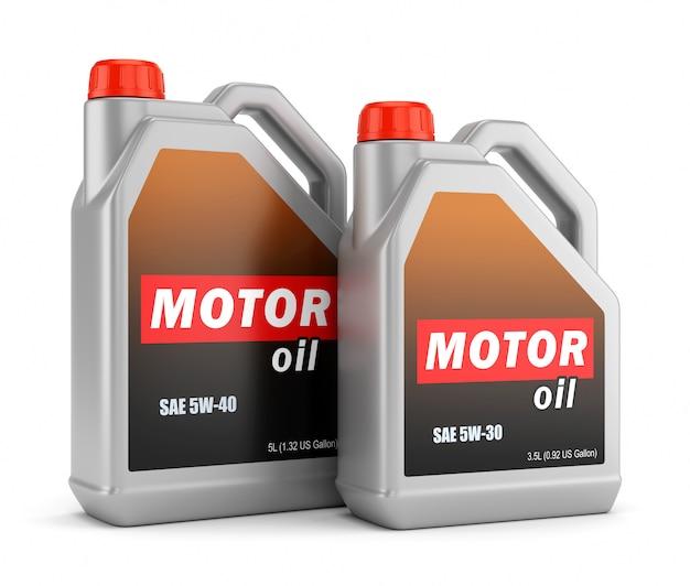 Duas garrafas de óleo de motor