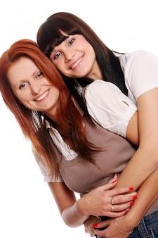 Duas irmãs jovens e bonitas