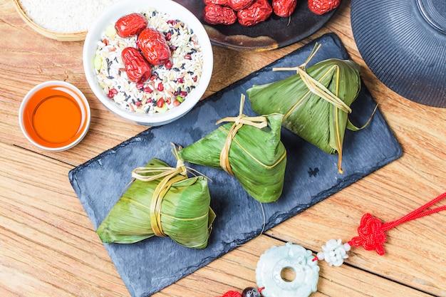 Dumplings de arroz do festival do barco do dragão