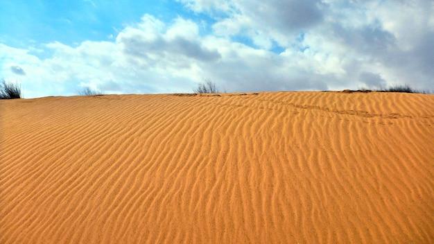 Duna de areia no deserto de negev, em israel.