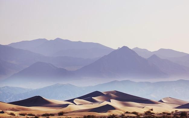 Dunas de areia na califórnia, eua. bela paisagem natural