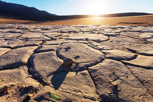 Dunas de areia no parque nacional do vale da morte, califórnia, eua Foto Premium