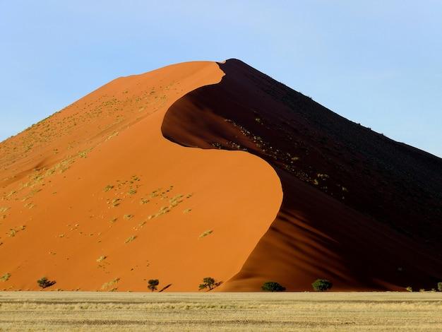 Dunas no deserto do namibe, sossusvlei, namíbia