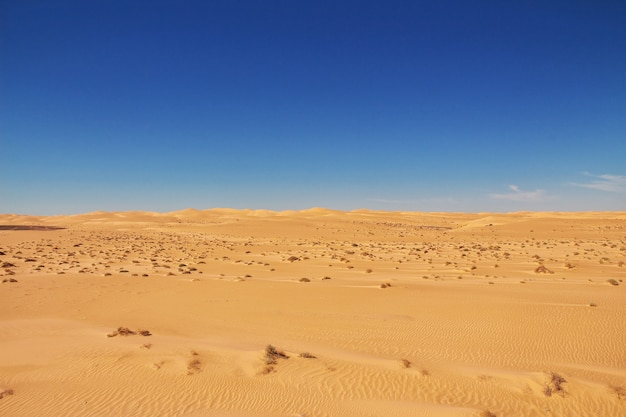 Dunas no deserto do saara, no coração da áfrica