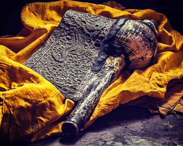 Dung-dkar trompete concha - instrumento de música religiosa