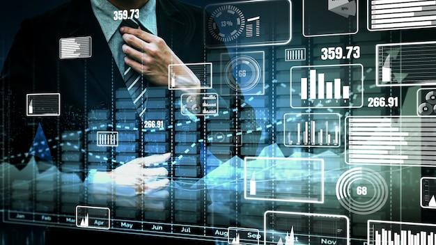 Dupla exposição do conceito de crescimento do lucro do negócio