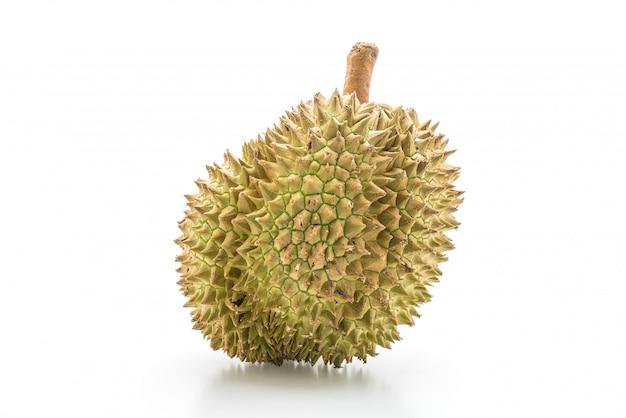 Durian fresco no fundo branco