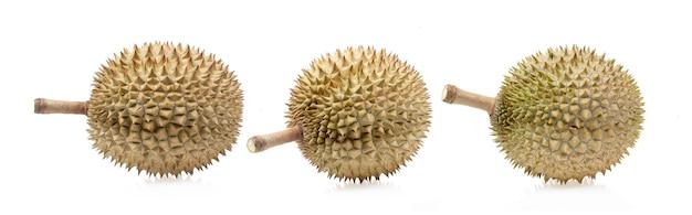 Durian isolado no fundo branco.