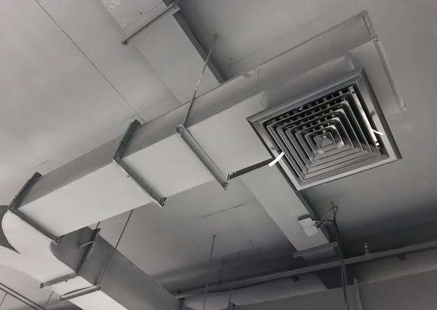 Duto de ar interior de construção