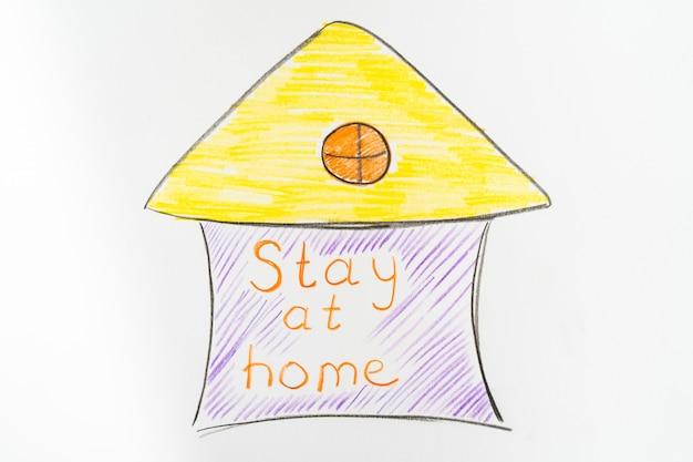 É importante ficar em casa durante uma pandemia. quarentena mundial de coronovírus.