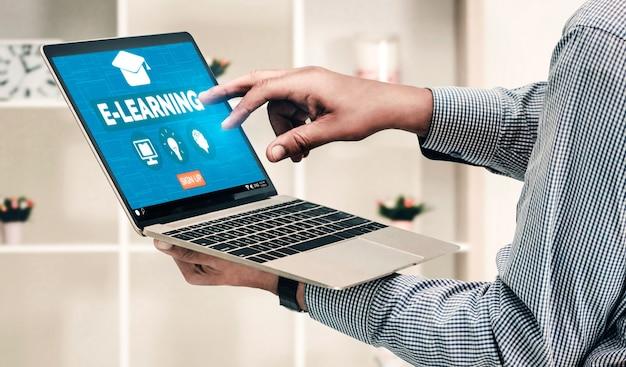E-learning e educação online para o conceito de estudante e universidade