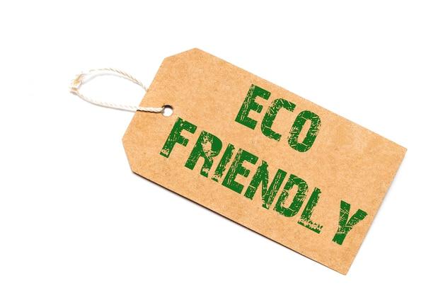 Eco-amigável em um preço de papel