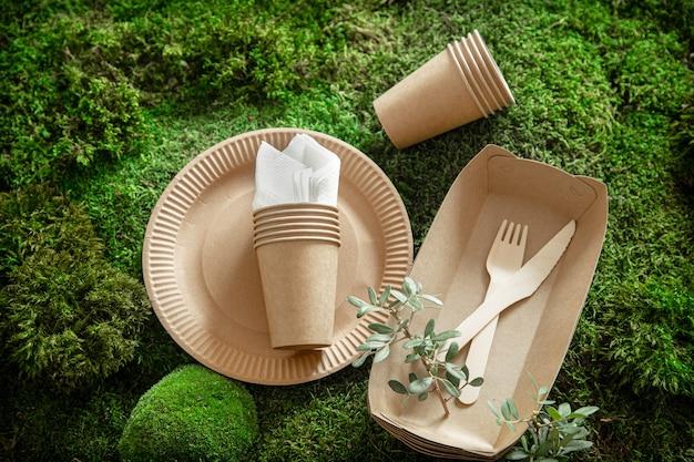 Eco-friendly, elegante, descartável, conveniente, belos talheres recicláveis.