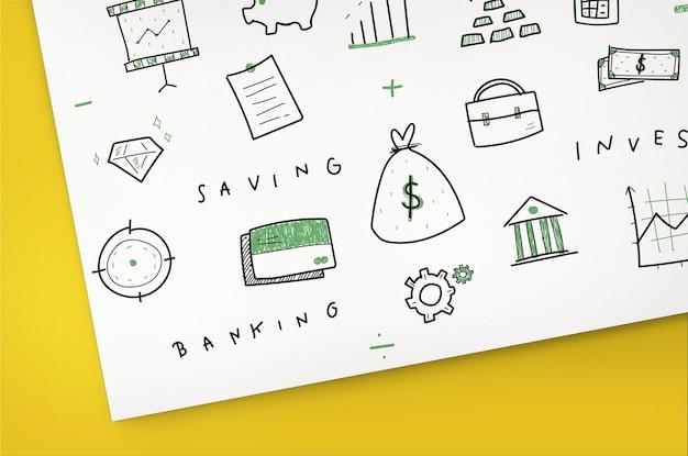 Economia empresarial comércio conceito de gestão financeira