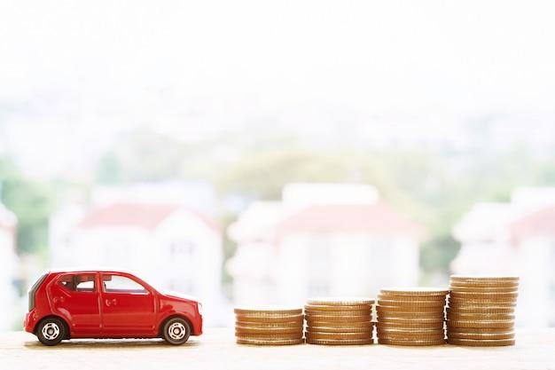 Economizando dinheiro para comprar carro ou carro comercial por dinheiro