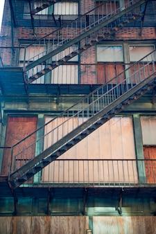 Edifício abandonado em boston, massachusetts, eua