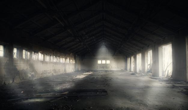 Edifício abandonado escuro