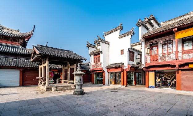 Edifício antigo do templo de nanjing confúcio