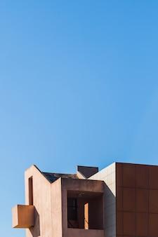Edifício, com, céu