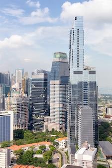 Edifício comercial e distrito financeiro na cidade de singapura
