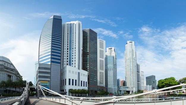 Edifício corporativo moderno do escritório para negócios do arranha-céus dos prédios de escritórios.
